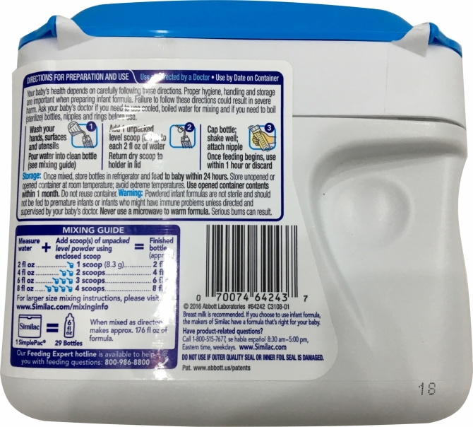 Sữa Similac Advance Non GMO 658g