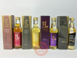SET OF 4 KAVALAN WHISKY WITH BOX