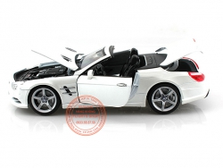 MERCEDES BENZ SL500 CONVERTIBLE WHITE 1:18 (WELLY)