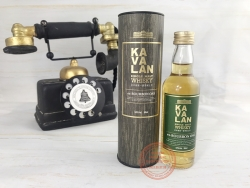 Kavalan ex-Bourbon Oak Single Malt Whisky, with tube