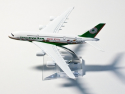 A380 Eva Air - Hello Kitty Green 16cm