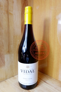 Vang đỏ Vidal Pinot Noir 2017 (New Zealand) 750ml