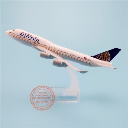 B747 United Airlines (new logo) 16cm